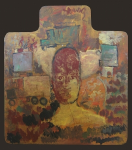 Face on Deskpad by Purvis Young