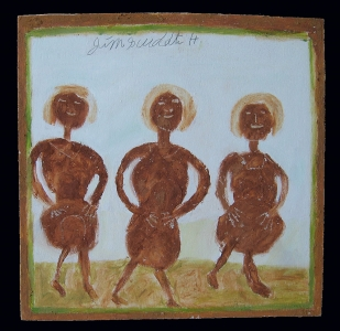 Three Women by Jimmie Lee Sudduth